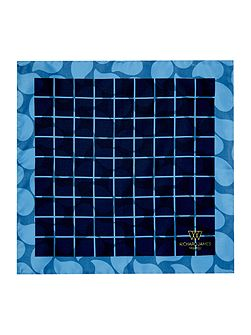 Silk Double Print Grid Hankie