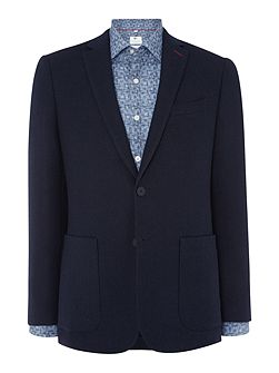 Navy Double Faced Check Jacket
