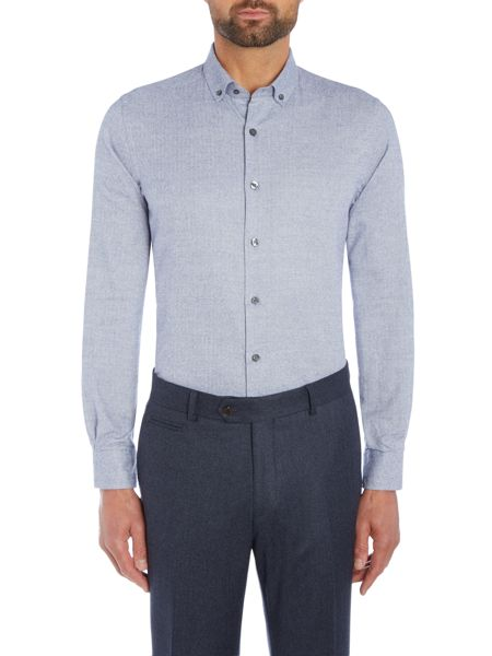 Richard James Mayfair Blue Mini Puppytooth Shirt