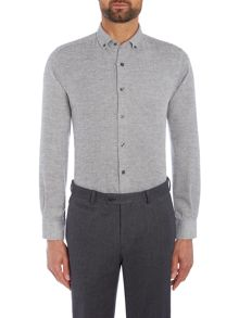 Richard James Mayfair Grey Soft Textured Shirt