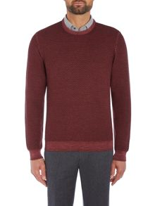 Richard James Mayfair Diamond Texture Crew Knitwear