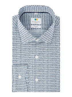 Sketchy Hexagon Slim Fit Shirt