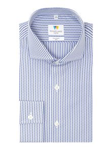 Richard James Mayfair Dash Dobby Stripe Slim Fit Shirt
