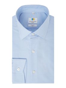 Richard James Mayfair Horizontal Stripe Slim Fit Shirt