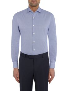 Richard James Mayfair Mini Gingham Slim Fit Shirt