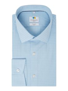 Richard James Mayfair Hairline Check Slim Fit Shirt