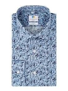 Richard James Mayfair Handrawn Floral Slim Fit Shirt