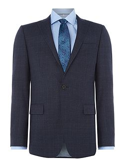 Dark Check Slim Suit Jacket