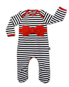 Baby Girls Bow Sleepsuit
