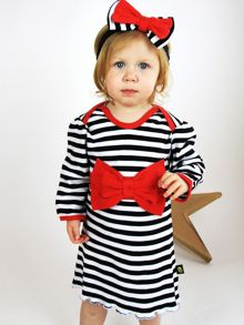 Rockabye Baby Girls Bow Dress