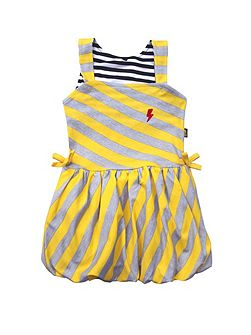 Baby Girls Diagonal Puffball Dress