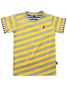 Rockabye Baby Kids Diagonal Stripe Tee