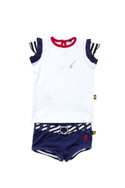 Rockabye Baby Babies Embroidery Tee and shorts set