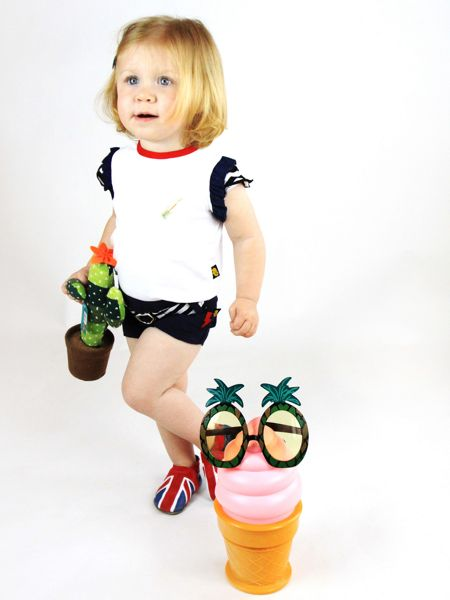 Rockabye Baby Kids Embroidery Tee and shorts set
