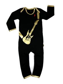 Rockabye Baby Kids Guitar Onesie Bling