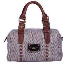 Small twin strap snake print bowling bag