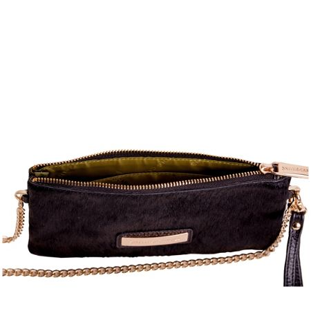 Smith & Canova Large purse with wrist strap & chain