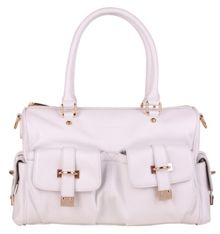 Smith & Canova Twin strap zip top pocket detail bag