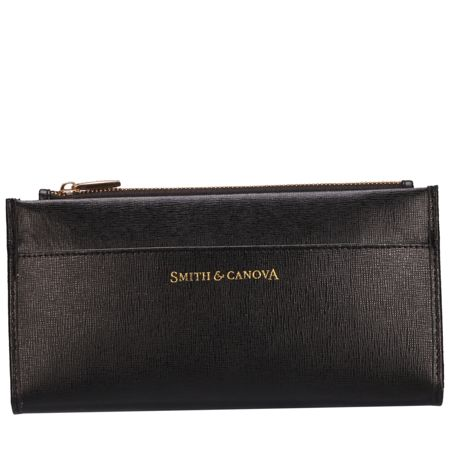 Smith & Canova Long zip top pocketed purse