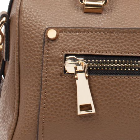 Smith & Canova Twin strap barrel style pocket detail bag