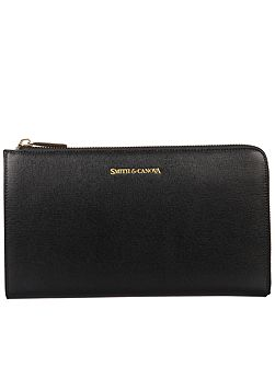 Smith & Canova Zip round travel/document wallet