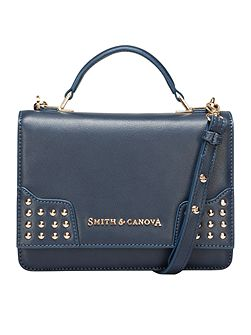 Dahl corner stud flap over cross body bag