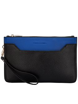 Polly zip top clutch bag
