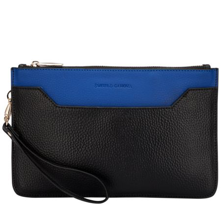 Smith & Canova Polly zip top clutch bag