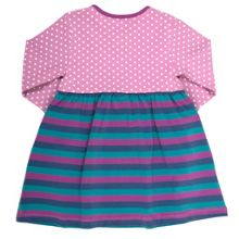 Baby girls spot and stripe dress