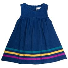 Baby girls rainbow trim pinafore