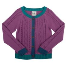 Girls tri-colour cable cardi