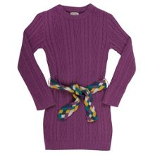 Girls cable jumper dress
