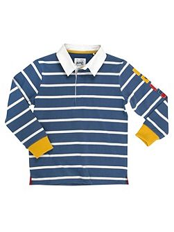 Boys nautical rugby shirt