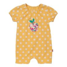 Baby girls apple spot romper