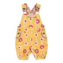 Baby girls potato print bib shorts