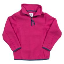 Girls lightweight zip neck fleece