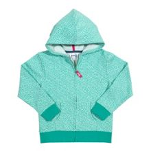 Girls ditsy zip through hoody