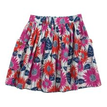 Girls sunflower reversible skirt