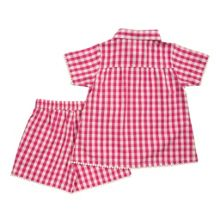 Girls pretty check shortie pyjamas