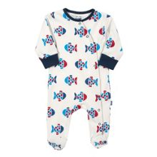 Baby boys fishy sleepsuit