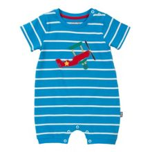 Baby boys biggles stripy romper