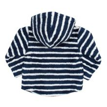 Baby boys stripy hooded fleece