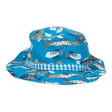 Baby boys reversible ocean hat