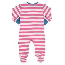 Baby Girls Stripy elephant sleepsuit