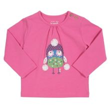Baby Girls Pom-pom owl t-shirt