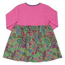 Baby Girls Spotty paisley dress