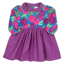 Baby Girls Tea rose polka dress