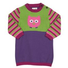 Baby Girls Owl knitted dress
