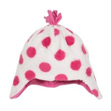 Kite Baby Girls Spotty fleece hat