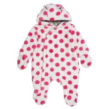 Baby Girls Spotty fleece snowsuit